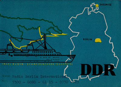 Radio Berlin International from the German Democratic Republic, East Germany.