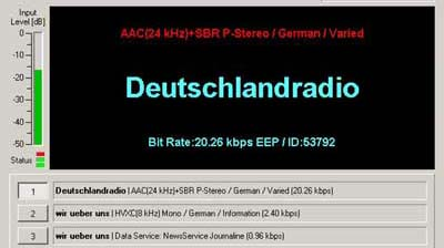 DRM Transmission from Deutschlandradio on177 kHz