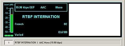 RTBF Internation Wavre on 9870 kHz