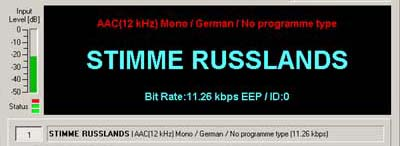 Simulcast from Stimme Russlands, DE