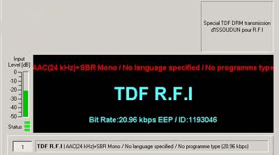 Test Transmission from TDF R.F.I., Issoudun, France
