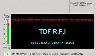Special TDF DRM Transmission from TDF R.F.I., Issoudun, France