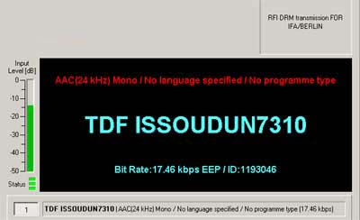 RFI DRM Transmission for IBA Berlin on 7310 kHz