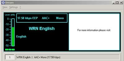 WRN Europe on 15735 kHz